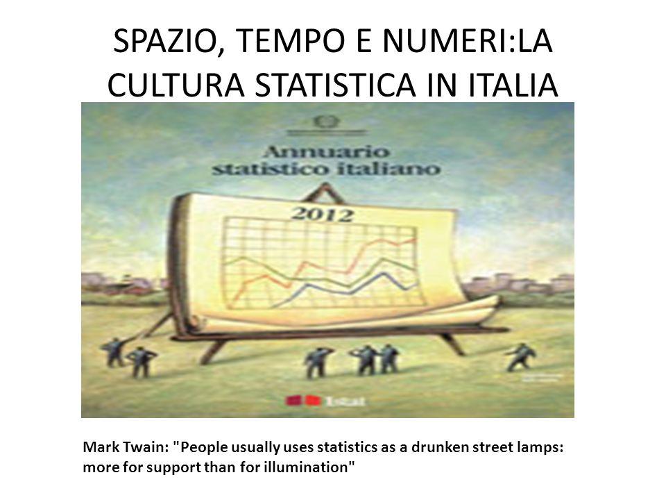 SPAZIO, TEMPO E NUMERI:LA CULTURA STATISTICA IN ITALIA Mark Twain:
