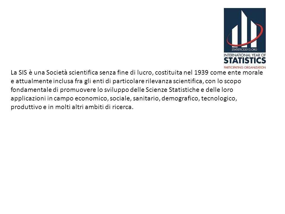 La SIS è una Società scientifica senza fine di lucro, costituita nel 1939 come ente morale e attualmente inclusa fra gli enti di particolare rilevanza