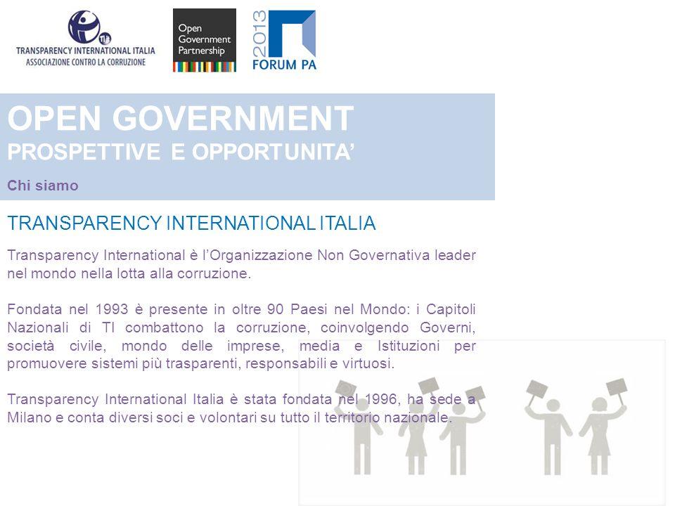 TRANSPARENCY INTERNATIONAL ITALIA Transparency International è lOrganizzazione Non Governativa leader nel mondo nella lotta alla corruzione.