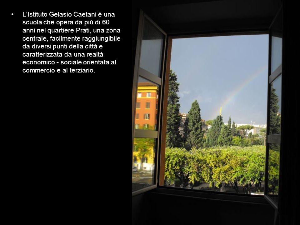 L'Istituto Gelasio Caetani è una scuola che opera da più di 60 anni nel quartiere Prati, una zona centrale, facilmente raggiungibile da diversi punti