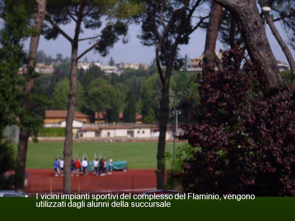 I vicini impianti sportivi del complesso del Flaminio, vengono utilizzati dagli alunni della succursale