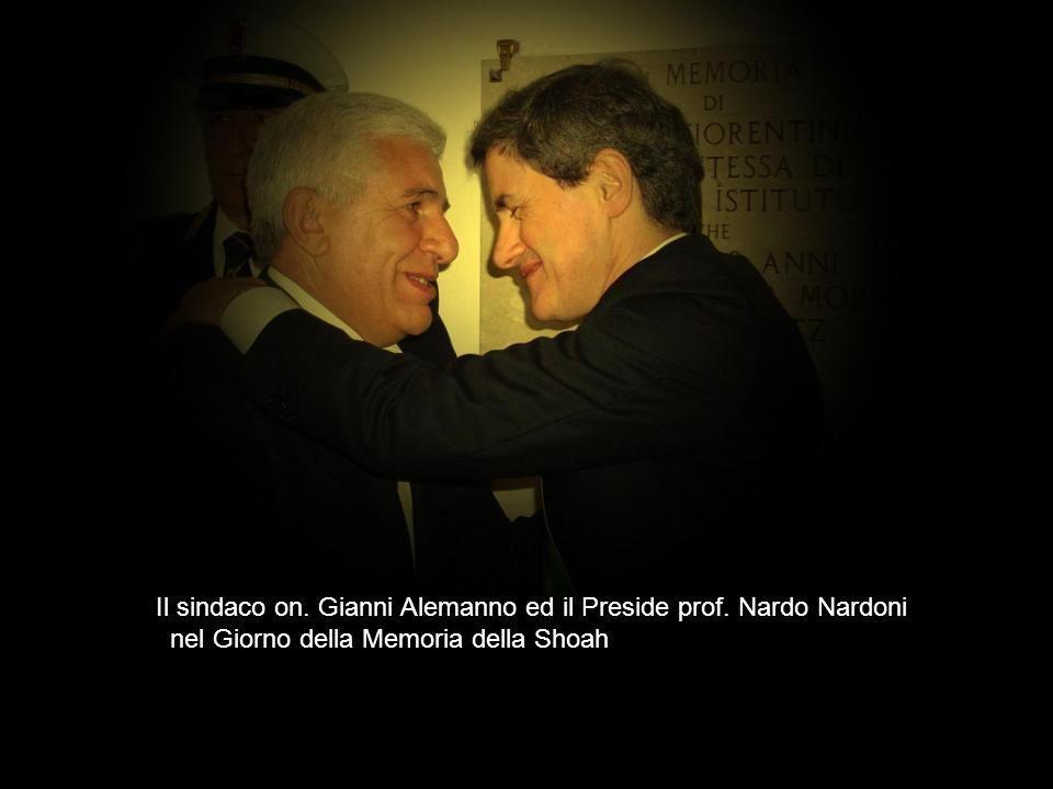 Il sindaco on. Gianni Alemanno ed il Preside prof. Nardo Nardoni nel Giorno della Memoria della Shoah