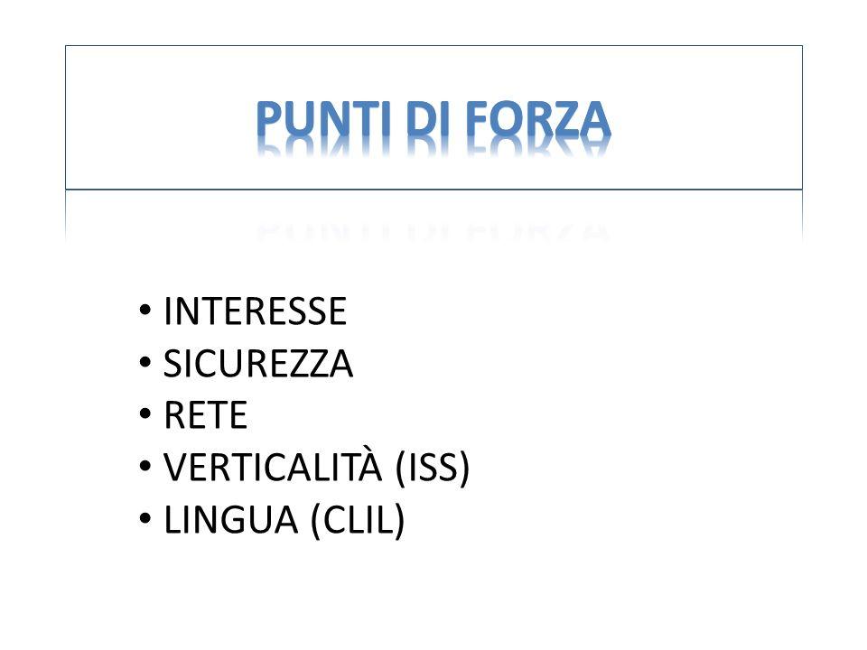 INTERESSE SICUREZZA RETE VERTICALITÀ (ISS) LINGUA (CLIL)