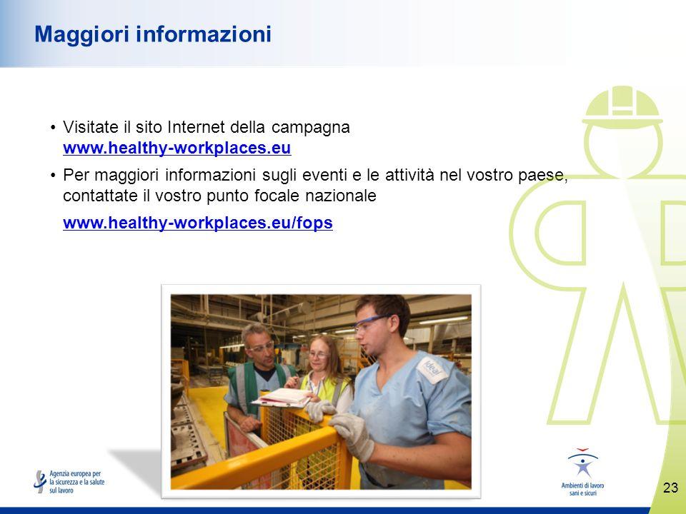 www.healthy-workplaces.eu Visitate il sito Internet della campagna www.healthy-workplaces.eu www.healthy-workplaces.eu Per maggiori informazioni sugli