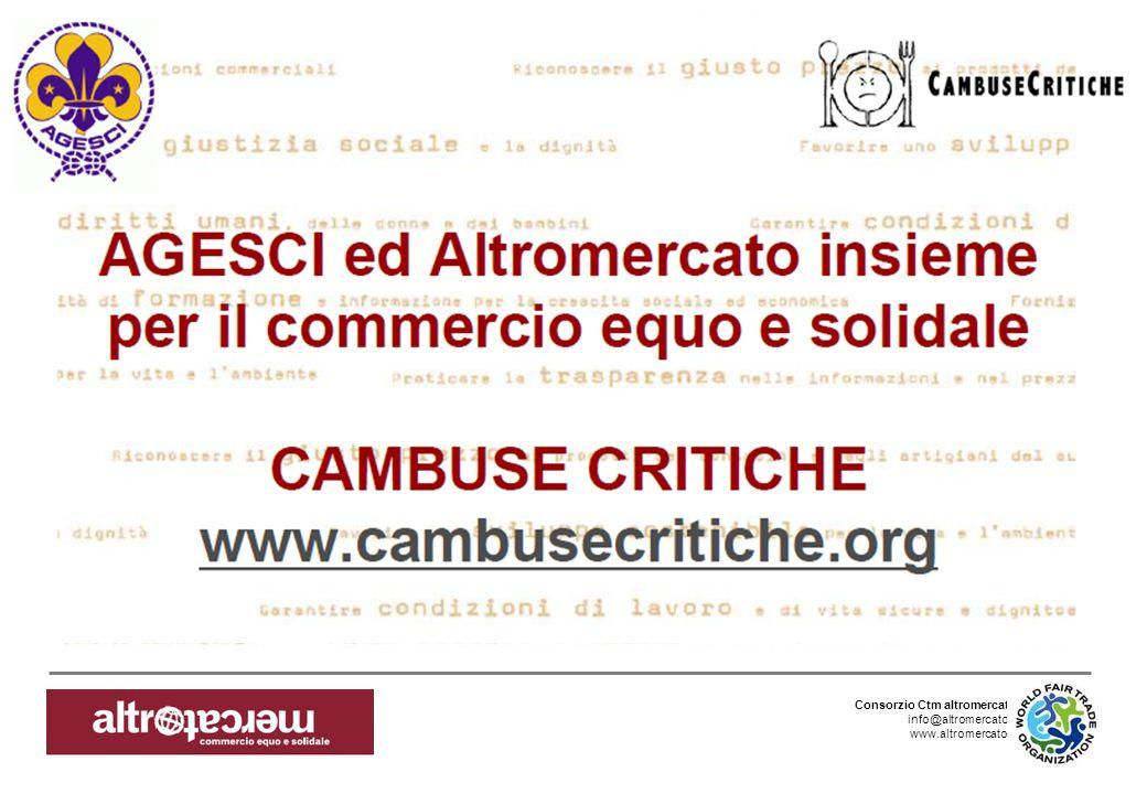 Consorzio Ctm altromercato info@altromercato.it www.altromercato.it