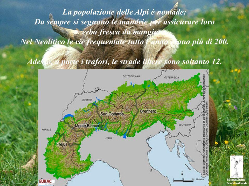 Michela Zucca Servizi culturali La popolazione delle Alpi è nomade: Da sempre si seguono le mandrie per assicurare loro erba fresca da mangiare. Nel N