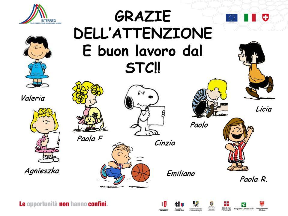 GRAZIE DELLATTENZIONE E buon lavoro dal STC!. Valeria Paolo Cinzia Agnieszka Paola F.