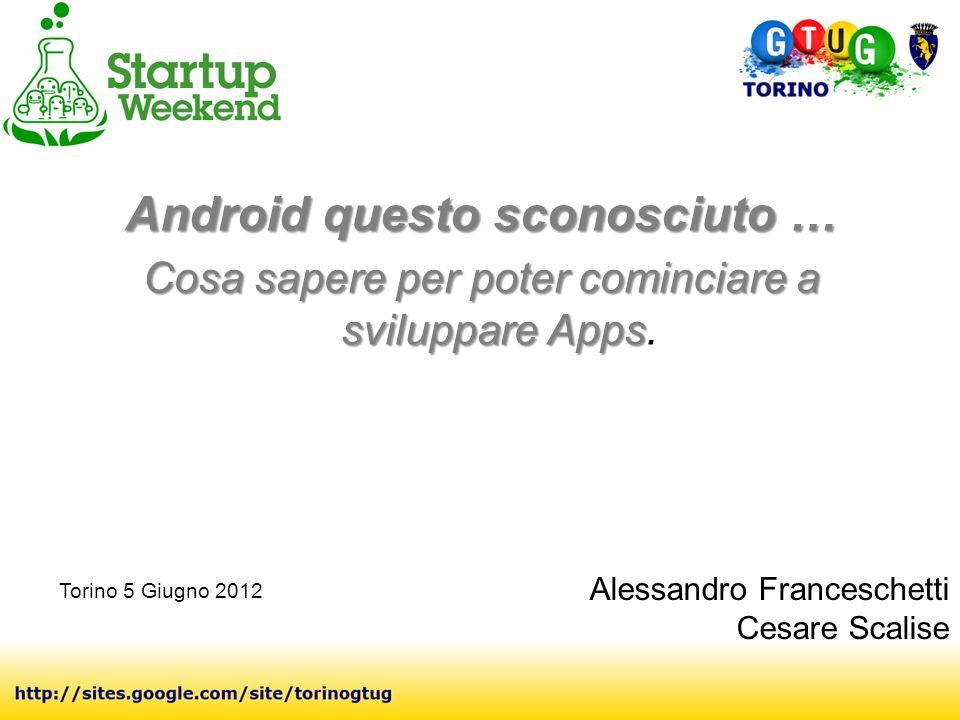 Android questo sconosciuto … Cosa sapere per poter cominciare a sviluppare Apps Cosa sapere per poter cominciare a sviluppare Apps.