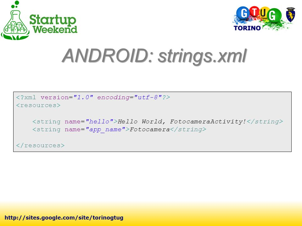 Hello World, FotocameraActivity! Fotocamera ANDROID: strings.xml