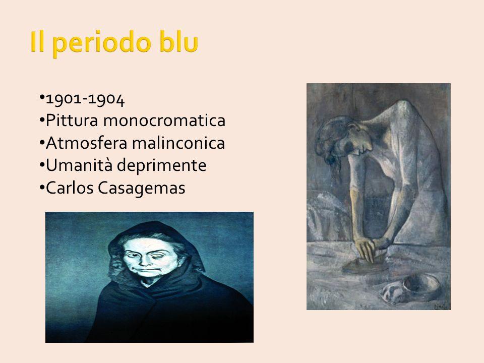 1901-1904 Pittura monocromatica Atmosfera malinconica Umanità deprimente Carlos Casagemas