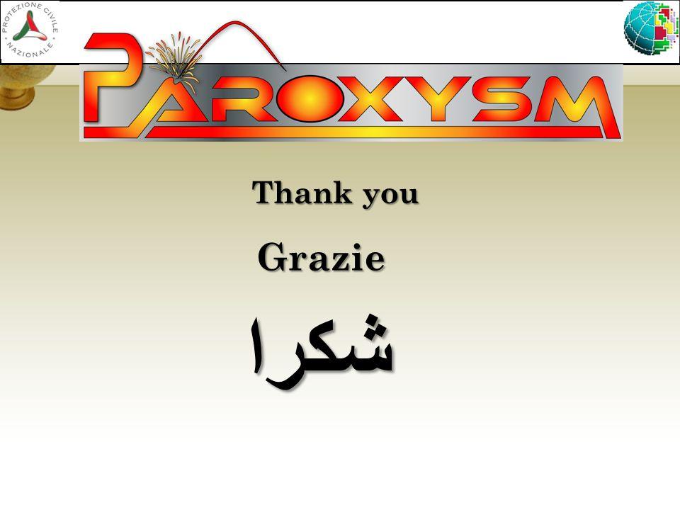 Thank you شكرا Grazie