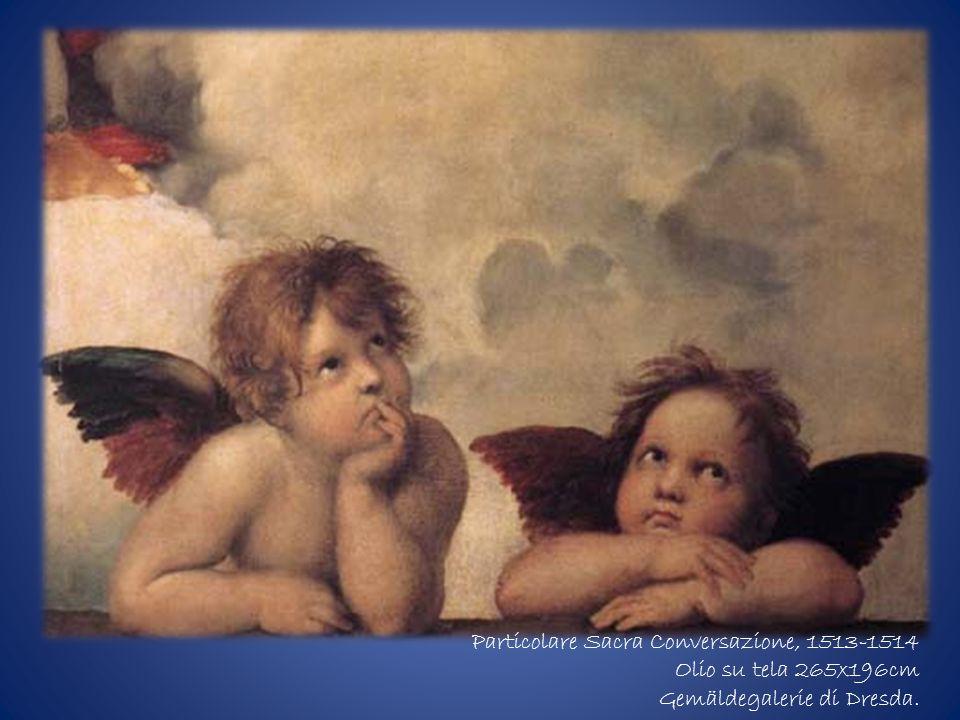 Particolare Sacra Conversazione, 1513-1514 Olio su tela 265x196cm Gemäldegalerie di Dresda.