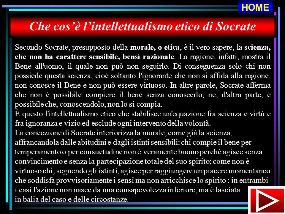Che cosè lintellettualismo etico di Socrate Secondo Socrate, presupposto della morale, o etica, è il vero sapere, la scienza, che non ha carattere sen