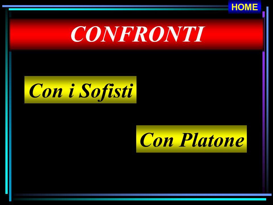 CONFRONTI Con i Sofisti Con Platone