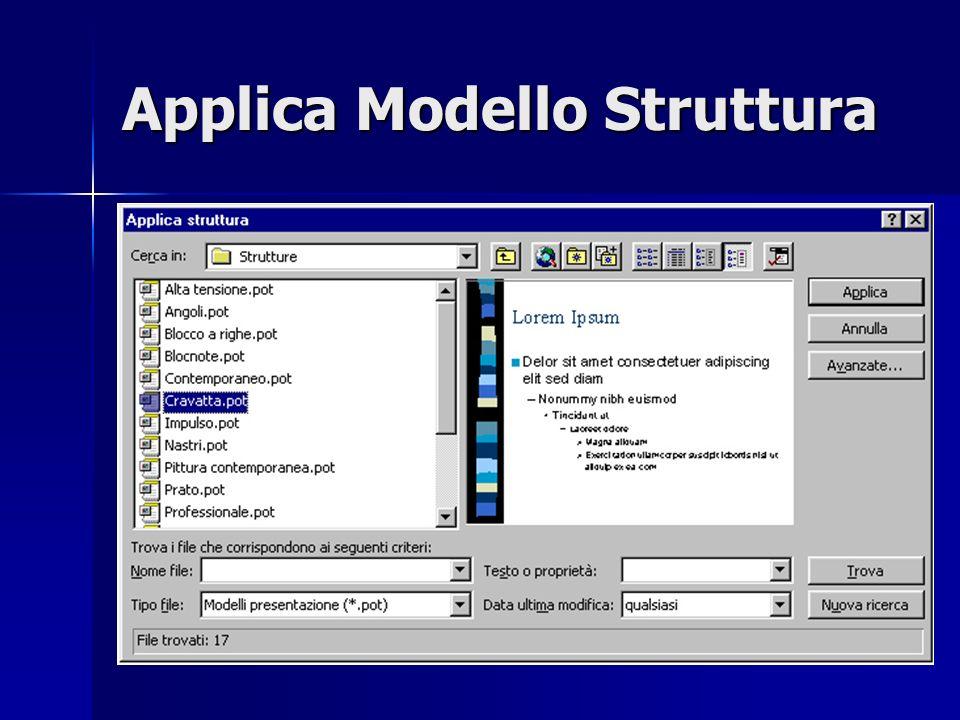 Applica Modello Struttura