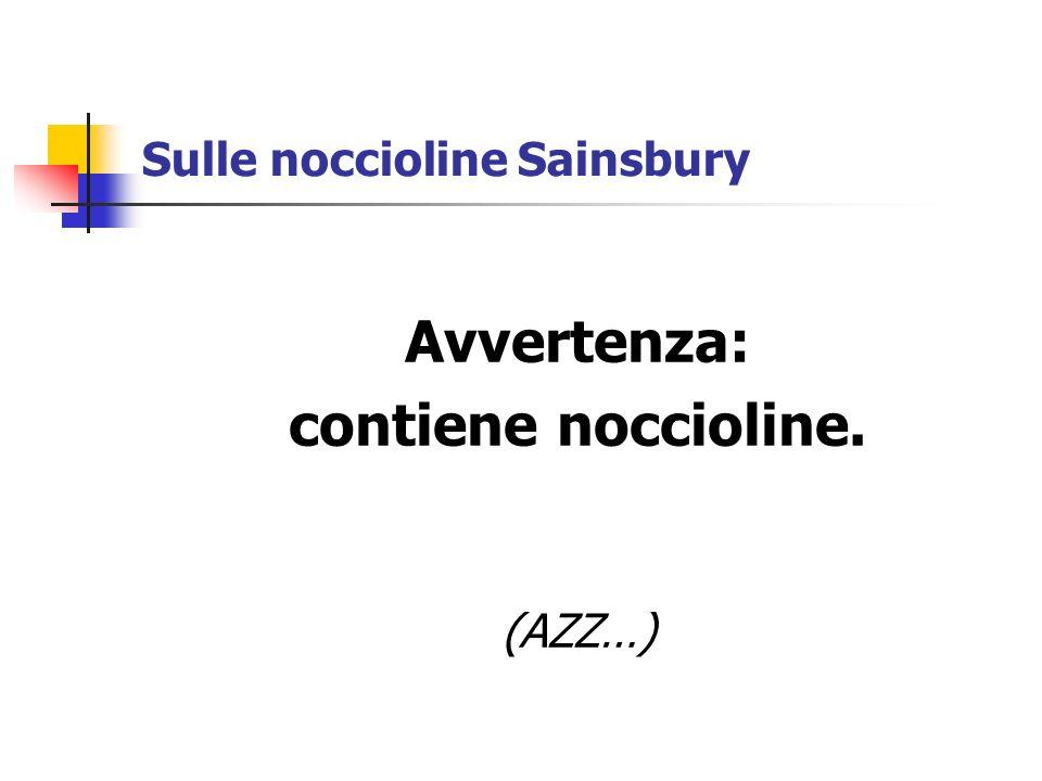 Sulle noccioline Sainsbury Avvertenza: contiene noccioline. (AZZ…)