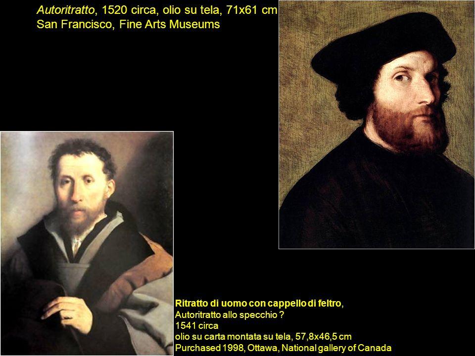 Ritratto di uomo con cappello di feltro, Autoritratto allo specchio ? 1541 circa olio su carta montata su tela, 57,8x46,5 cm Purchased 1998, Ottawa, N