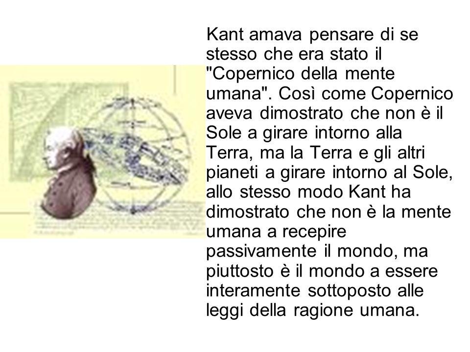 Kant amava pensare di se stesso che era stato il Copernico della mente umana .