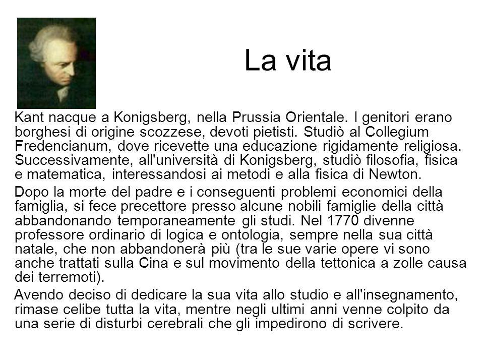 La vita Kant nacque a Konigsberg, nella Prussia Orientale.