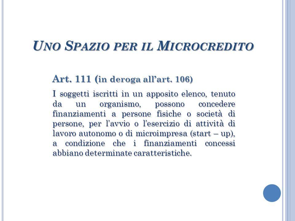 Art. 111 ( in deroga allart.