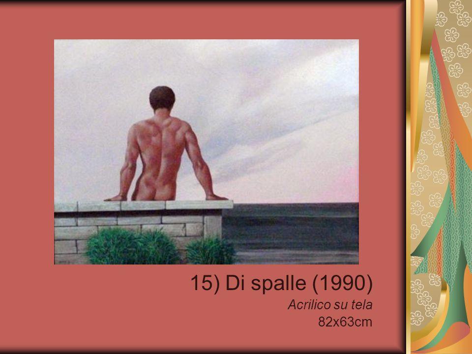 15) Di spalle (1990) Acrilico su tela 82x63cm