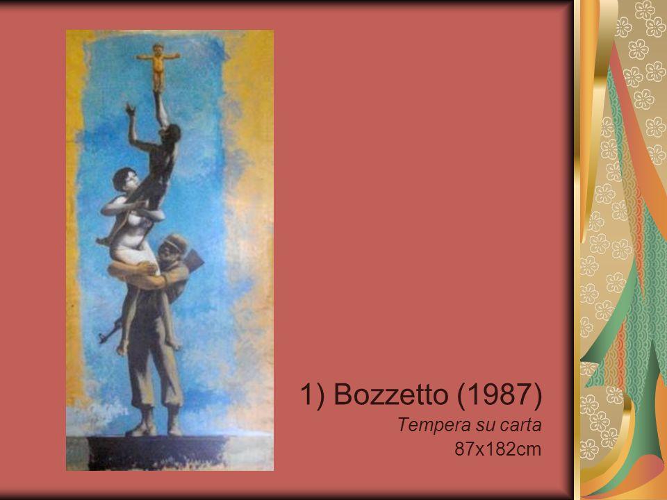 12) Il teatro del fervido (1954) Tempera su tela 61x69cm