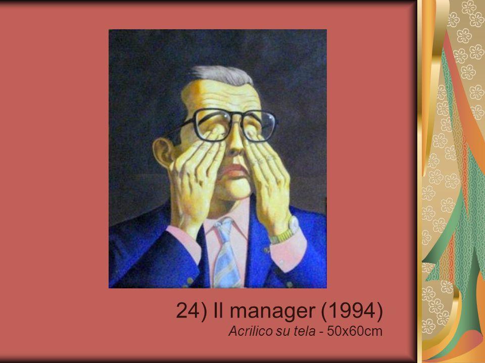 24) Il manager (1994) Acrilico su tela - 50x60cm