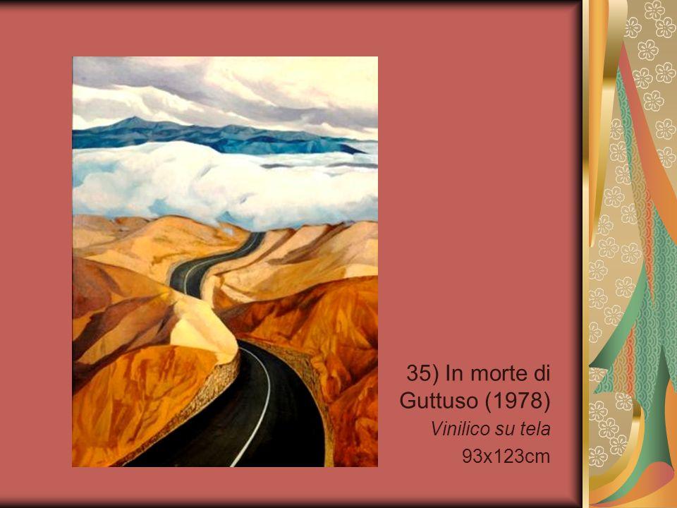 35) In morte di Guttuso (1978) Vinilico su tela 93x123cm