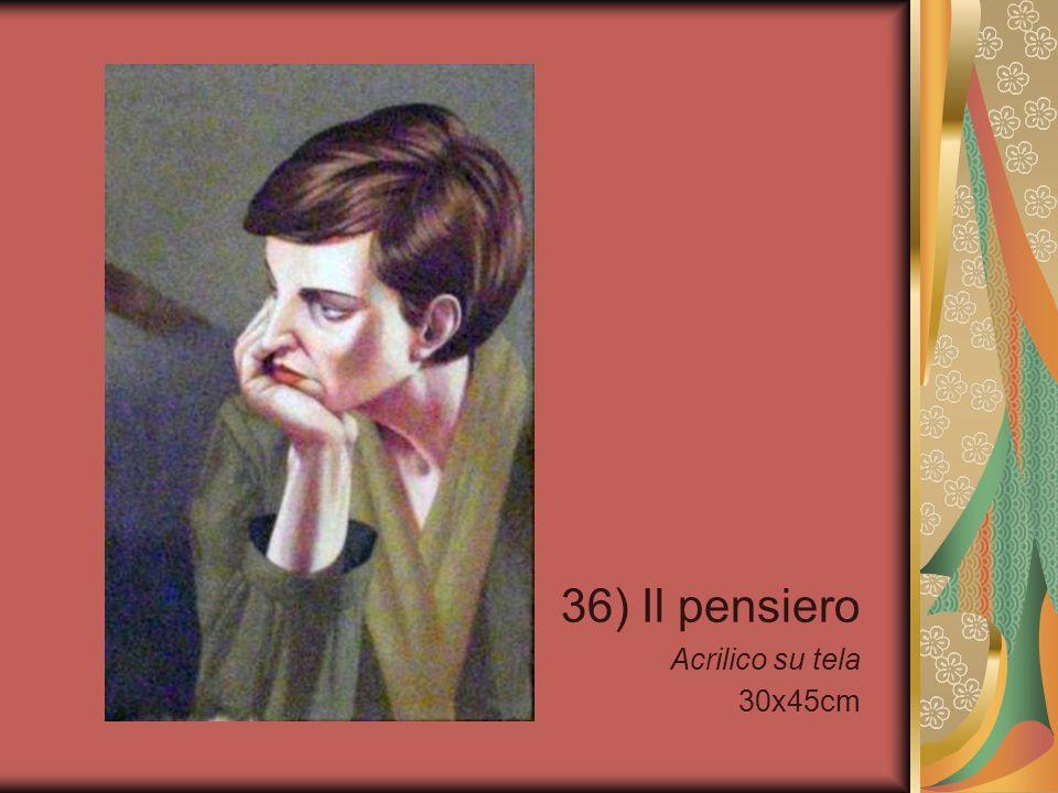 36) Il pensiero Acrilico su tela 30x45cm