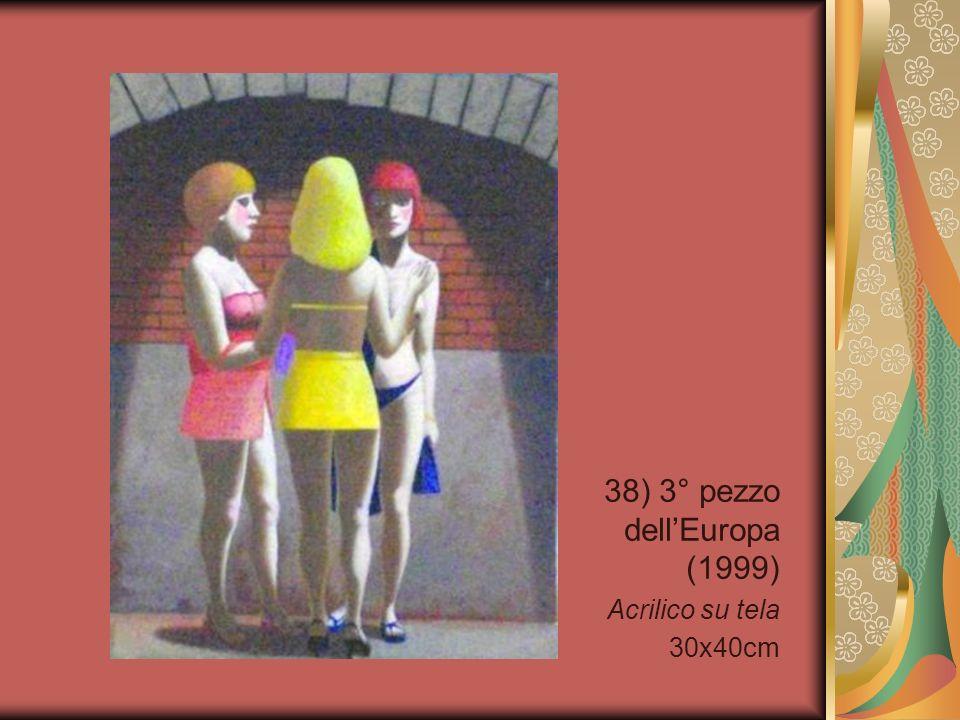 38) 3° pezzo dellEuropa (1999) Acrilico su tela 30x40cm