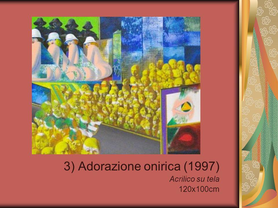 54) Giovani coppie si mettono a letto (1995) Acrilico su tela 145x100cm
