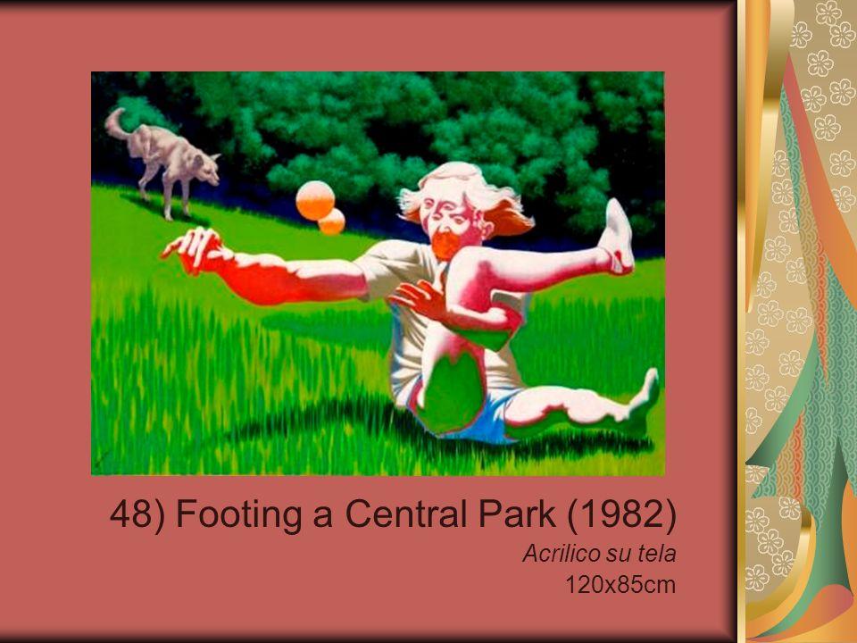 48) Footing a Central Park (1982) Acrilico su tela 120x85cm