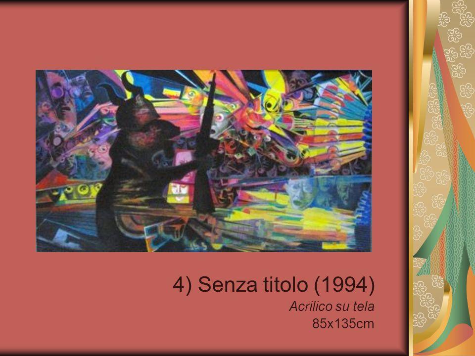 4) Senza titolo (1994) Acrilico su tela 85x135cm