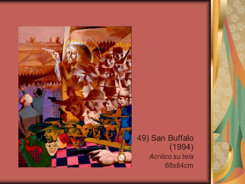 49) San Buffalo (1994) Acrilico su tela 68x84cm