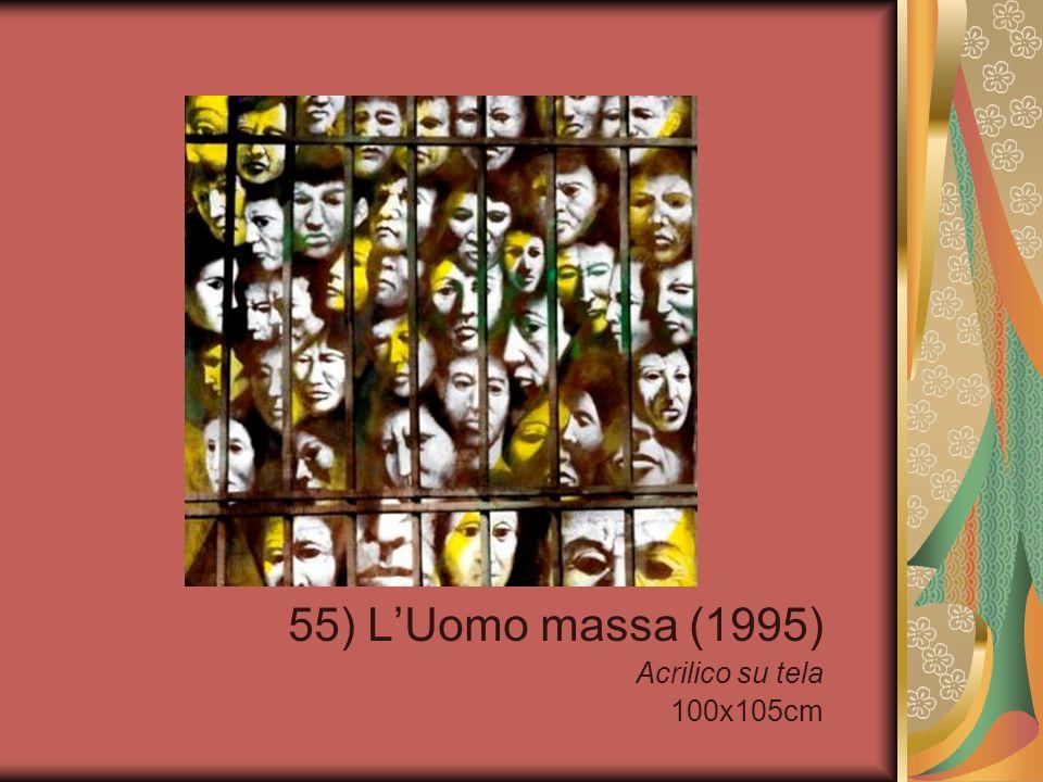 55) LUomo massa (1995) Acrilico su tela 100x105cm