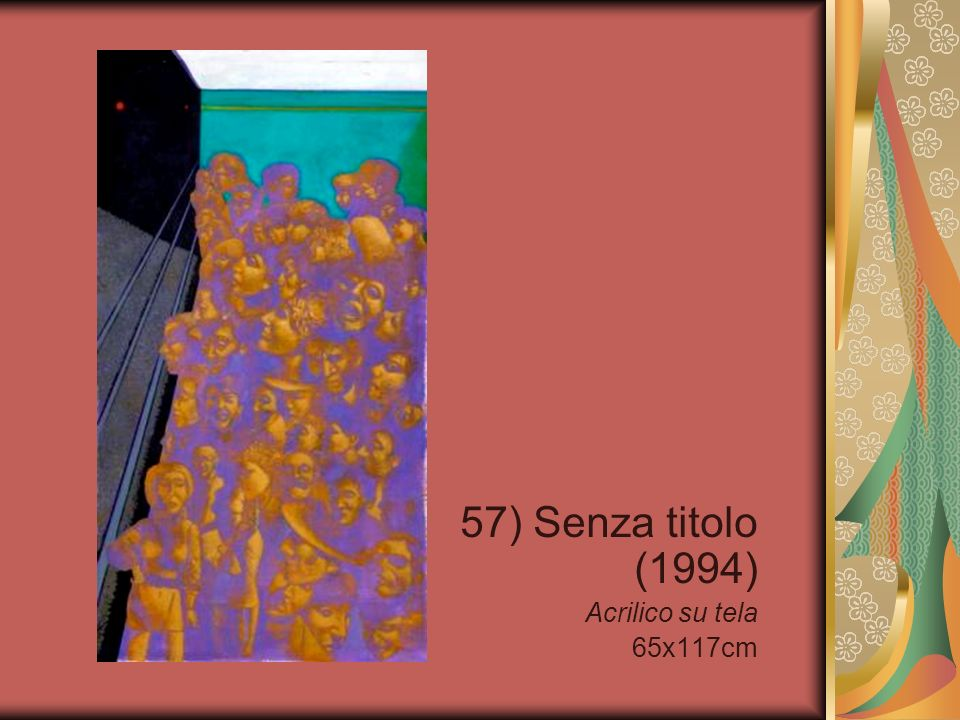 57) Senza titolo (1994) Acrilico su tela 65x117cm