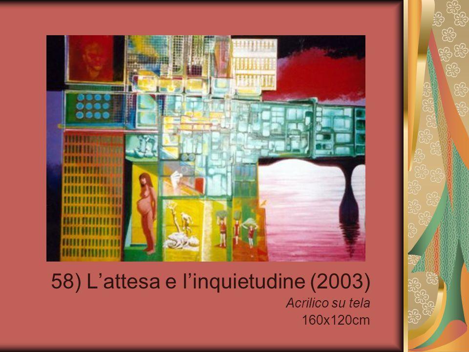 58) Lattesa e linquietudine (2003) Acrilico su tela 160x120cm