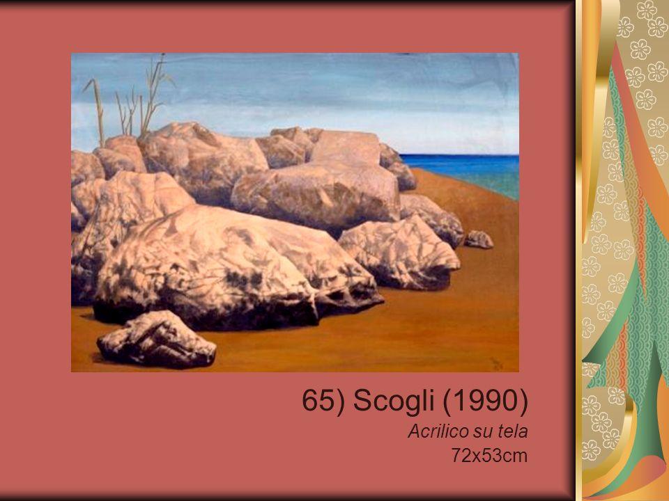 65) Scogli (1990) Acrilico su tela 72x53cm