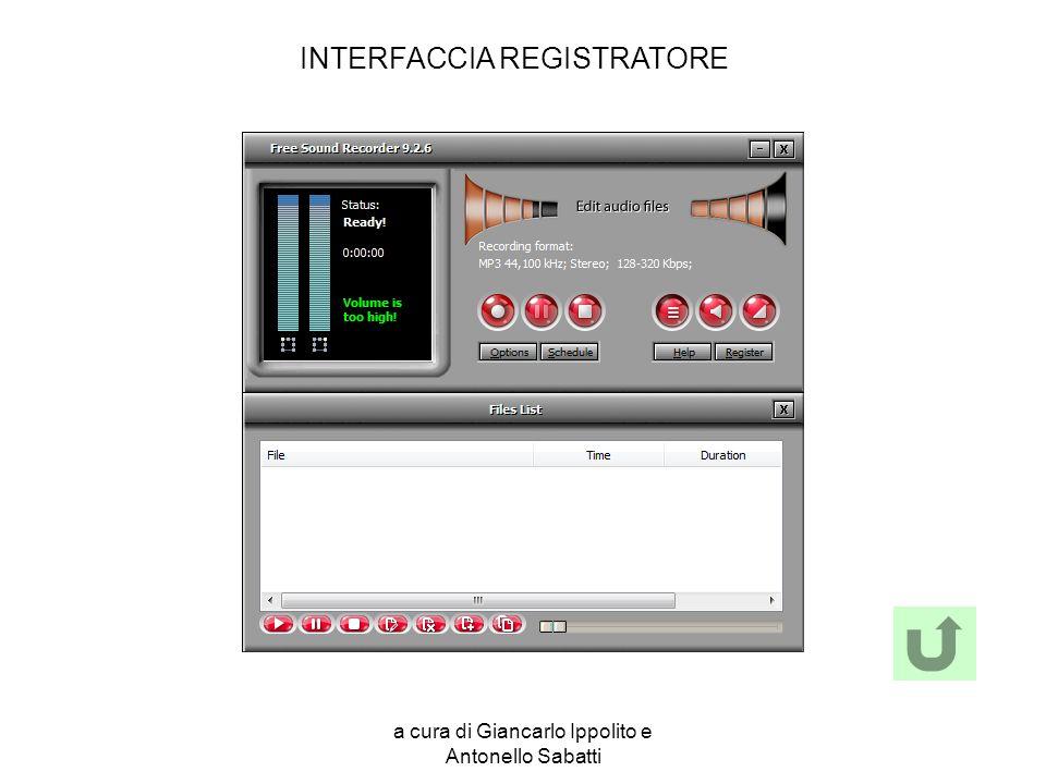 INTERFACCIA REGISTRATORE