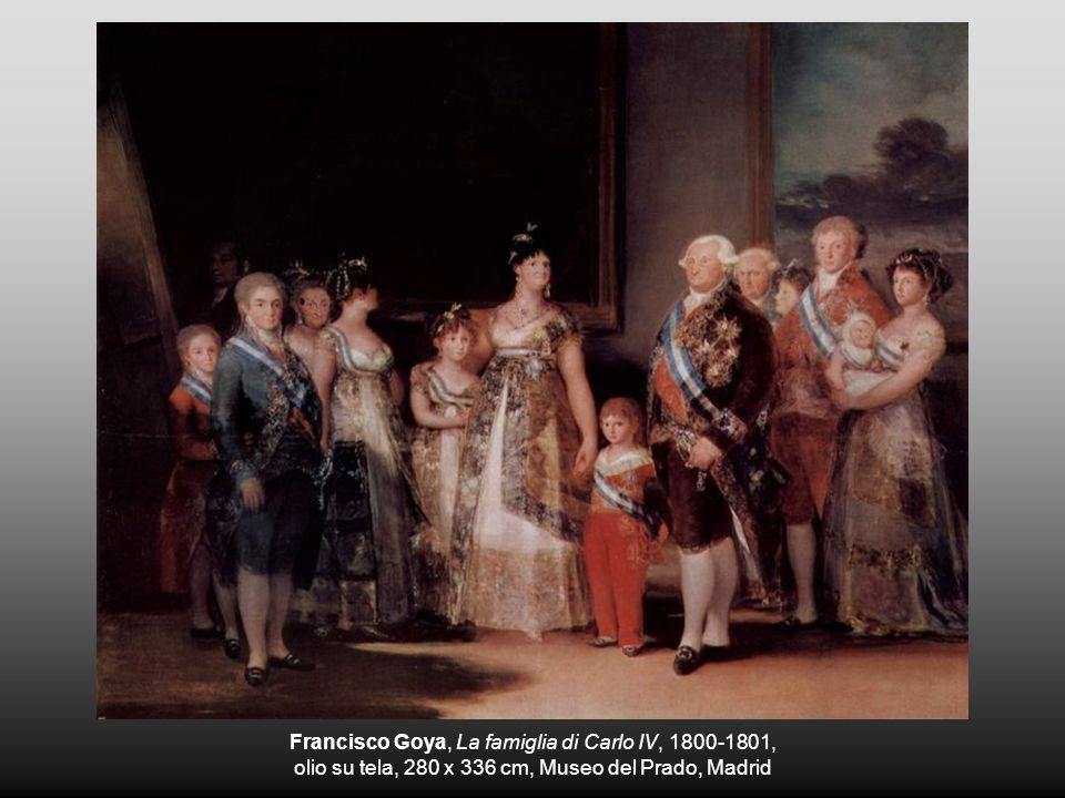 Francisco Goya, La famiglia di Carlo IV, 1800-1801, olio su tela, 280 x 336 cm, Museo del Prado, Madrid