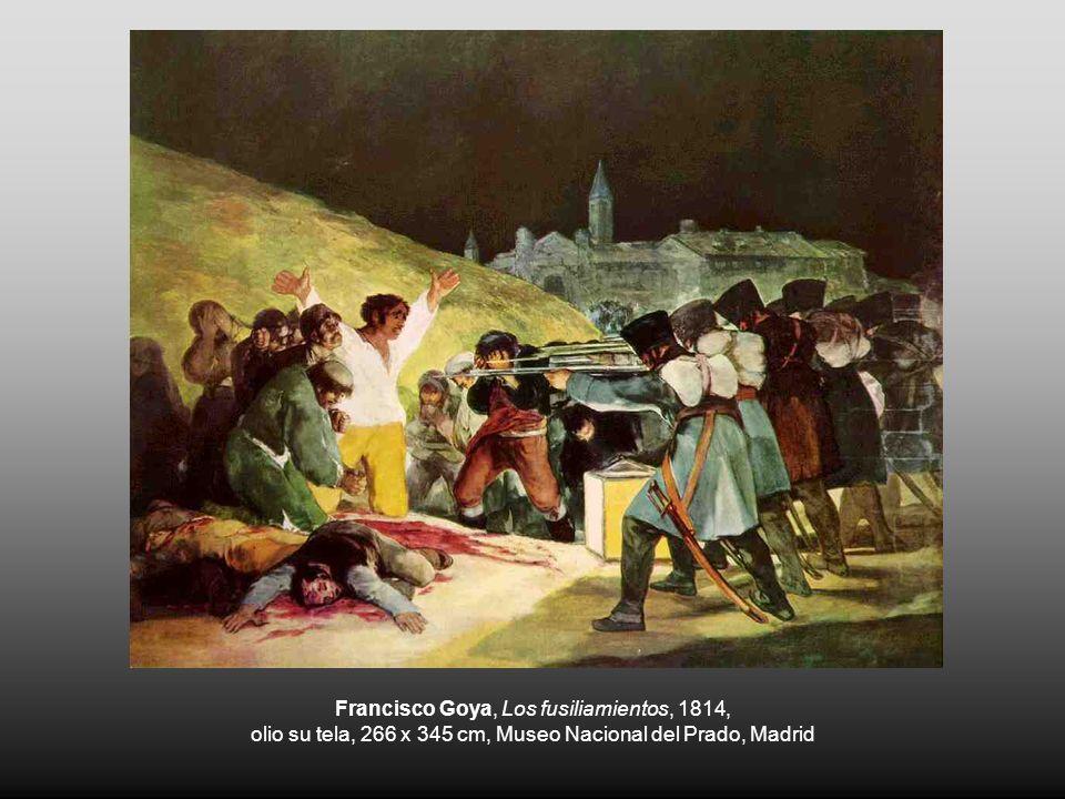 Francisco Goya, Los fusiliamientos, 1814, olio su tela, 266 x 345 cm, Museo Nacional del Prado, Madrid