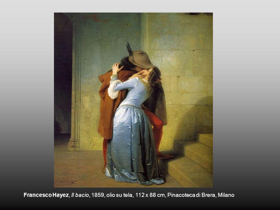 Francesco Hayez, Il bacio, 1859, olio su tela, 112 x 88 cm, Pinacoteca di Brera, Milano