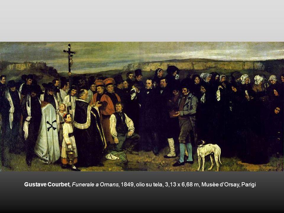 Gustave Courbet, Funerale a Ornans, 1849, olio su tela, 3,13 x 6,68 m, Musèe dOrsay, Parigi