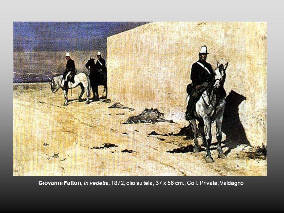 Giovanni Fattori, In vedetta, 1872, olio su tela, 37 x 56 cm., Coll. Privata, Valdagno