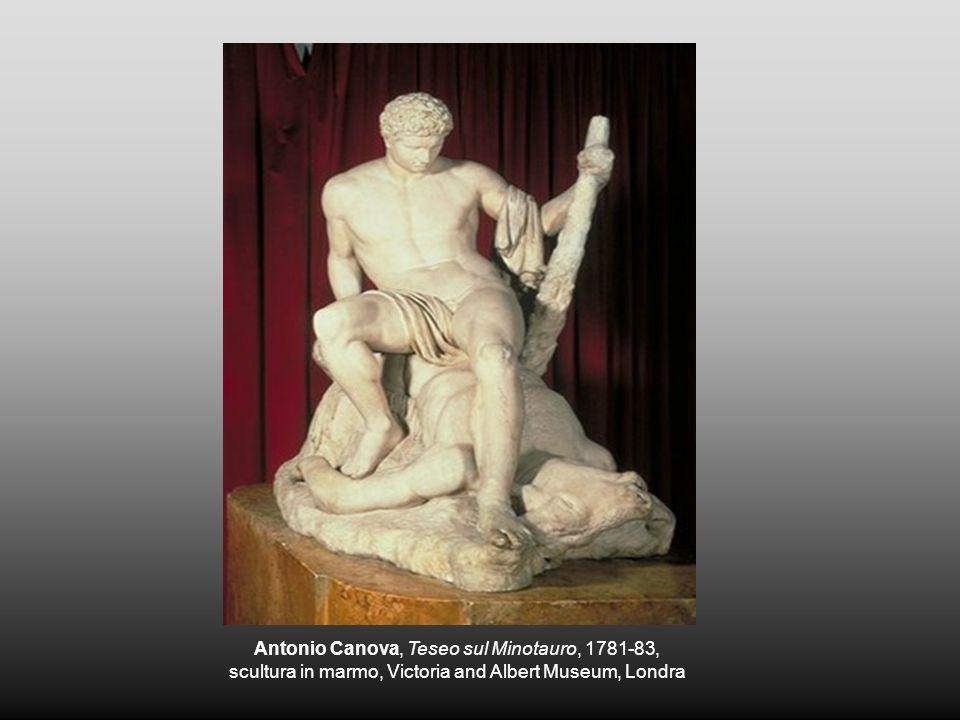 Antonio Canova, Teseo sul Minotauro, 1781-83, scultura in marmo, Victoria and Albert Museum, Londra