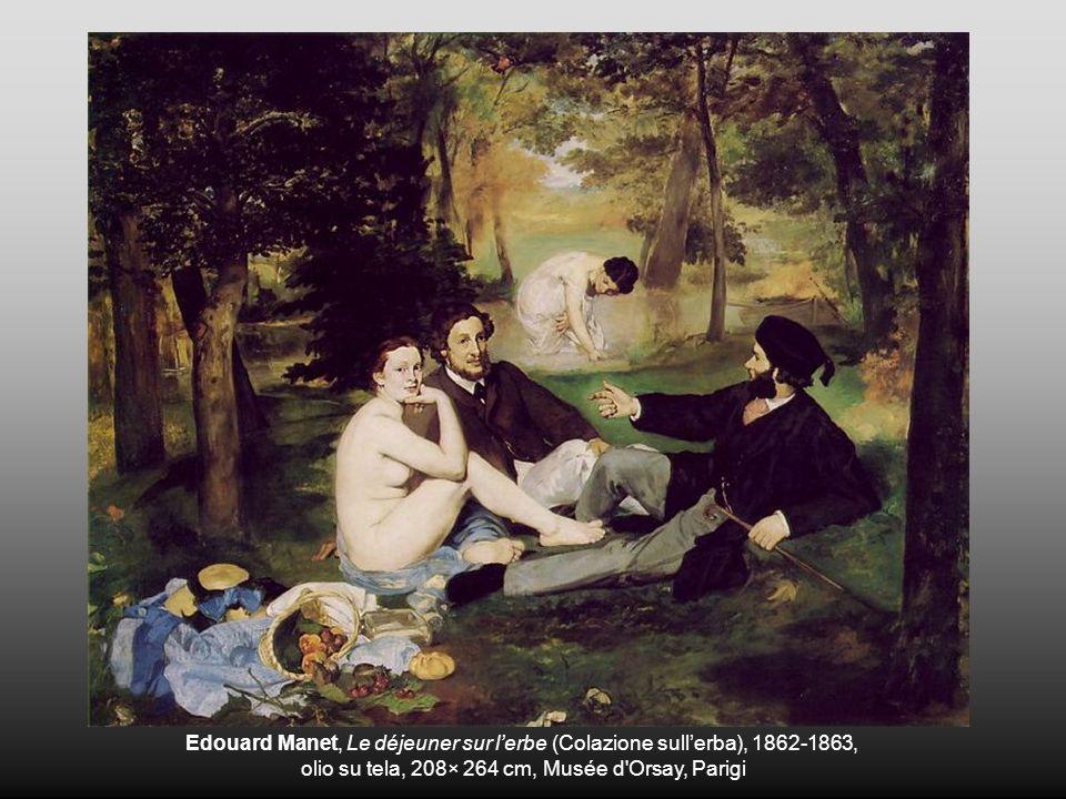 Edouard Manet, Le déjeuner sur lerbe (Colazione sullerba), 1862-1863, olio su tela, 208× 264 cm, Musée d'Orsay, Parigi