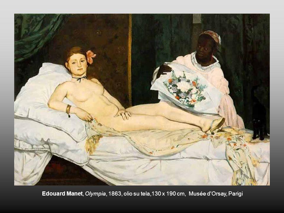 Edouard Manet, Olympia, 1863, olio su tela,130 x 190 cm, Musée d'Orsay, Parigi