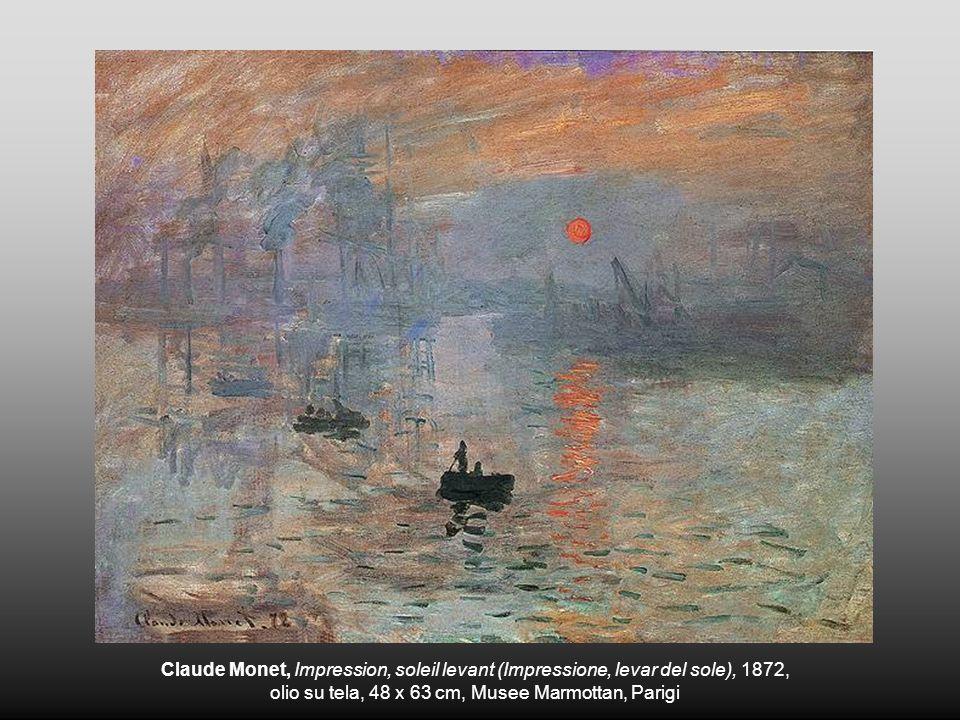 Claude Monet, Impression, soleil levant (Impressione, levar del sole), 1872, olio su tela, 48 x 63 cm, Musee Marmottan, Parigi