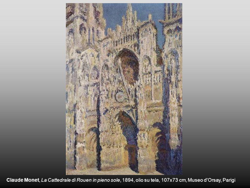 Claude Monet, La Cattedrale di Rouen in pieno sole, 1894, olio su tela, 107x73 cm, Museo d'Orsay, Parigi
