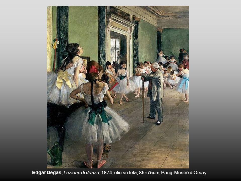 Edgar Degas, Lezione di danza, 1874, olio su tela, 85×75cm, Parigi Musèè dOrsay
